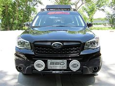 2014-2015 Subaru Forester 2.5 Rally Light Bar (Bull Bar), I might actually like these in all black with a light bar...hm.