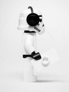 AStorm Trooper and his tunes. SOOOOOOO CUTE!!!!! #Starwars #Stormtrooper #Lego