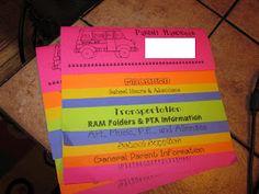 Parent Info Book for Meet The Teacher Night - great presentation!