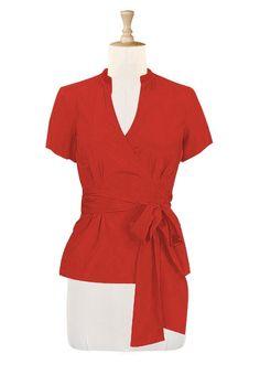 Wide sash wrap top
