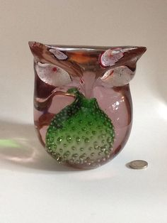 Eule Owl Sammler Glas SELTEN ! Außergewöhnliches Design.Das Prunkstück!!
