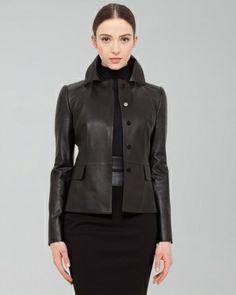 AKRIS//Napa Leather Jacket