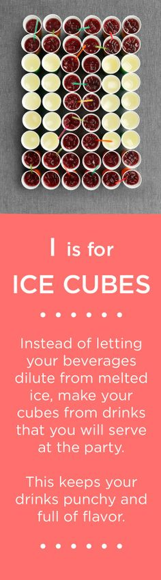 I is for ICE CUBES