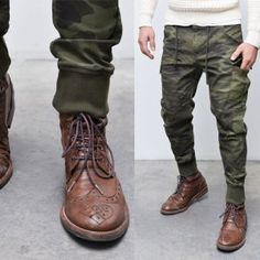 how to wear joggers with boots