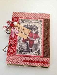 Rustic Christmas Art Journal Kit - Merry Memories on Etsy, $42.00
