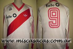 Casacas de River Plate de 1985/86 francescoli