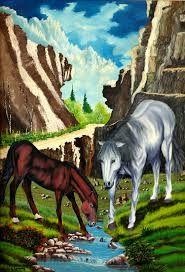 Resultado de imagem para pintura de tela de paisagem