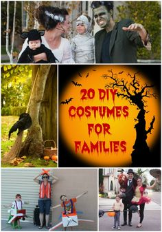 20 DIY Costumes For Families; costume dress-up as a family or in a group is a lot of fun. If you need a DIY costume idea for that is suitable for your entire family, try one of these 20 DIY family friendly, family-themed costumes. These are great for family Halloween costumes or family costume parties.