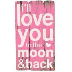 Love You to the Moon Wall Art (pink)