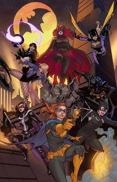 , alphacomics: Gotham gals collaboration by. Dc Batgirl, Catwoman Comic, Batwoman, Teen Titans Go Characters, Dc Characters, Superhero Family, Batman Family, Batman Art, Batman Comics