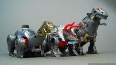 Toy Tribute: Dinobots Wave 1 (Transformers Generation 1) Grimlock Sludge, Slag