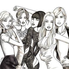 LILIAN wallpaper illustration #fashion #art #illustration #lifestyle