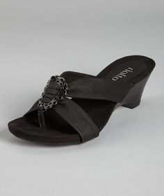 Take a look at this Black Levita Sandal by Rialto on @zulily today!