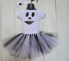 Ghost Costume, Ghost tutu set, Headband, Tutu, Ghost Shirt, Ghost Oneise, Girl Ghost, Halloween costume, Halloween Ghost, Ghost Halloween