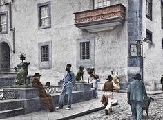 Esquina de la Plaza de Santa Ana.Finales del siglo XIX.Las Palmas de Gran Canaria.