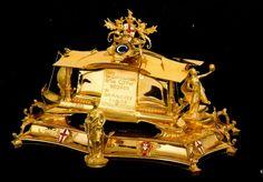 s: Ouro, Esmalte  Oferenda do povo de Sheffield a D. Carlos I, aquando da visita oficial a Inglaterra em Novembro de 1904