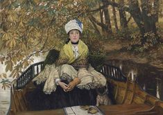 James Tissot - Waiting (also known as In the... on MutualArt.com