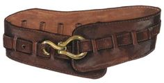 Wide Leather Belt from J Peterman Company. Love Wide Leather belts