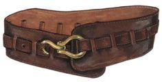 Wide Leather Belt from J Peterman Company. Love Wide Leather belts