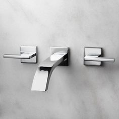 Ultra Wall Mount Lavatory Faucet with Lever Handles - Chrome