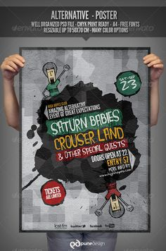 Realistic Graphic DOWNLOAD (.ai, .psd) :: http://realistic-graphics.xyz/pinterest-itmid-1002871835i.html ... Alternative - Flyer/Poster Template ...  alternative, club, concert, dj, evening, event, festival, flyer, gig, indie, music, party, poster, underground, urban  ... Realistic Photo Graphic Print Obejct Business Web Elements Illustration Design Templates ... DOWNLOAD :: http://realistic-graphics.xyz/pinterest-itmid-1002871835i.html