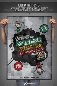 Alternative - Flyer/Poster Template  — PSD Template