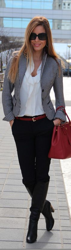 Really nice work outfit- everything fits well, but not super tight or loose.