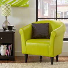 Zipcode™ Design Savannah Faux Leather Barrel Chair & Reviews | Wayfair.ca