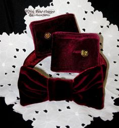 Couture Formal Dog Collar and Cuffs Rich Velvet by tinypawscouture, $45.00