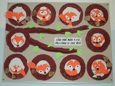 Liška v noře - tvoření k tématu Náš les Art For Kids, Fairy Tales, Diy And Crafts, Kindergarten, Children, Fall, Winter, Christmas, Autumn
