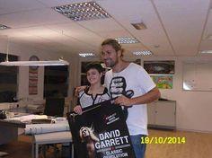 """David Garrett hat gestern im Gerry Weber Stadion einen Wunsch erfüllt: Alexandra, unsere """"Bühnenadler"""" Star Geigerin, durfte ihn vor seinem Auftritt treffen"""