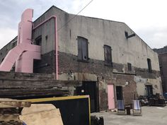 Photo of Carthage Must Be Destroyed - Brooklyn, NY, United States. Pink on brick