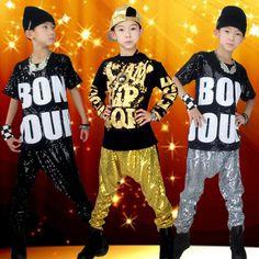 >> Click to Buy << Korean Fashion Boy Girls' Sequin Hip-Hop Clothing Set New Kids Jazz Suit Top & Harem Pants Child Hip Hop Dance Clothing #Affiliate
