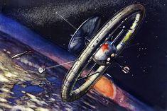 Ein Überblick über die schönsten sozialistischen Space-Visionen aus den 50er, 60er und 1970er Jahren.