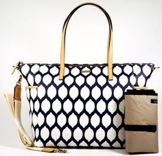 Kate Spade Navy and White Diaper Bag