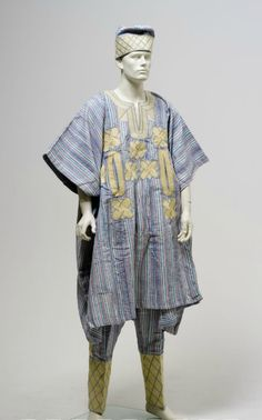 Yoruba man's wedding outfit, 1997, Nigeria.