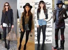 meia calça com shorts jeans para o inverno