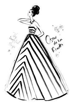 Megan Hess, The Dress - Oscar de la Renta $350