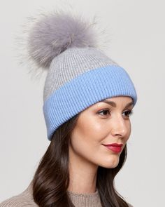 55562fceae4510 Our Gemma Knit Beanie with Raccoon Pom Pom is a deluxe design for her to  wear