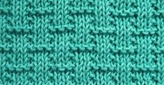 Simple Basketweave knitted pattern. Its great beginners knitting practice.