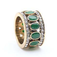 Vintage Türk Parmak Yüzük Kadınlar Için Oval Reçine Rhinestone Efendisi yüzükler antik altın kaplama takı yüzük el anillo hediye