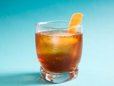 Peaty Scotch, such as Laphroaig, gives this drink a woodsy character that's emphasized by swapping the standard Campari for Cynar, a vegetal, bittersweet liqueur.
