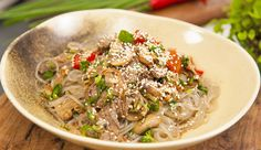 Korean Noodles with Beef and Vegetables-Adrian Richardson-Good Chef Bad Chaef