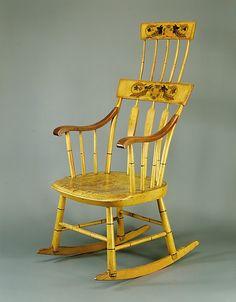 Rocking Chair - Hudson and Brooks circa 1823 Date: ca. 1823