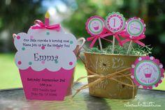 Cupcake Birthday Invitation by Palm Beach by palmbeachpolkadots, $2.25