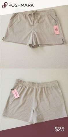 NWT Juicy Couture Hello Summer Shorts New velvety soft  and comfy Juicy Couture shorts. Stretched string waistband. Side pockets. Side slits. Super cute! Juicy Couture Shorts