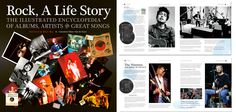 The cover and first pages. Rock, A Life Story with a foreword by Brian May. Flame Tree, Art Calendar, Brian May, Rock Music, Songs, Cover, Life, Rock, Blanket