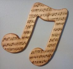 Wooden Eighth Note Wall Decor Music Note by FoldsOfLove on Etsy, $15.00