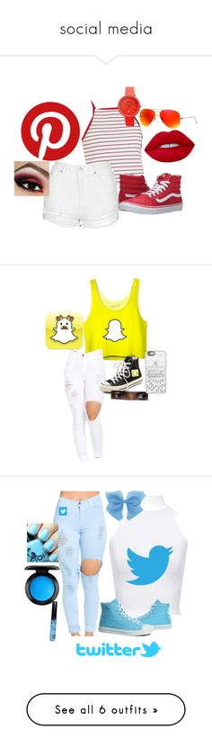 """social media"" by cianna3 ❤ liked on Polyvore featuring Cooperative, Topshop, Vans, Lime Crime, Ray-Ban, Crayo, Converse, Casetify, WearAll and Burnetie"