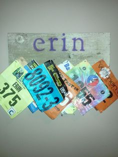 Race Bib Board! Should do one for me and one with John's name for his bibs